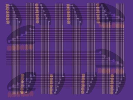 幾何学模様 ギターフレット パープル