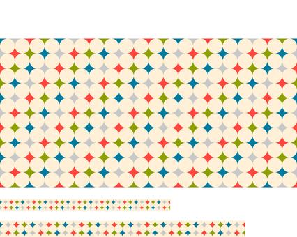 Retro dot pattern material