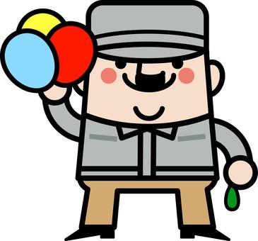 Uncle Fairy balloon craftsman