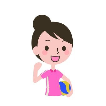 A woman with volleyball