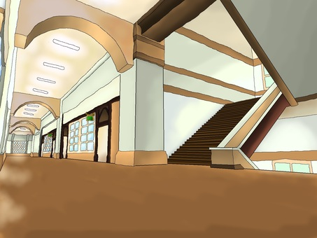 School corridors and stairs 【Background】