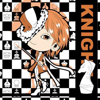 Chess KNIGHT illustration [white]