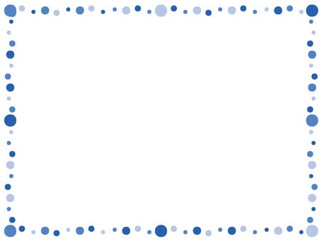 Polka dot frame blue