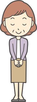 中年女性Bob-035-全身