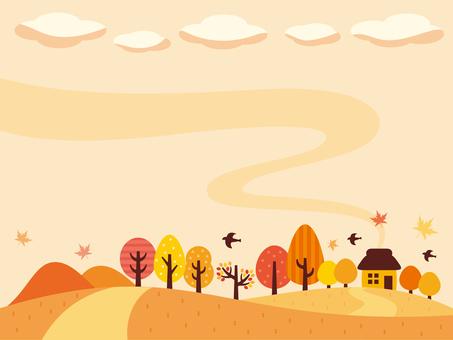가을의 사 토야마의 일러스트 (2)