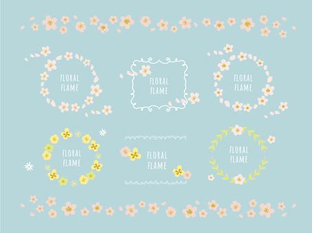 Postcard flower frame set