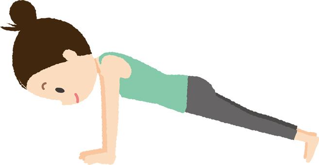 Yoga Planck pose