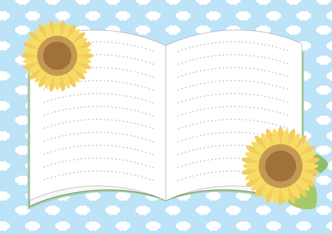 Open notebook (sunflower ver.)