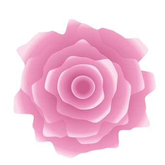 Jagged realistic pink rose icon material