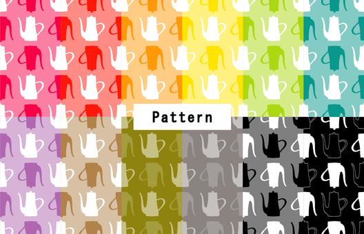 ポットパターン(手描き風)12色