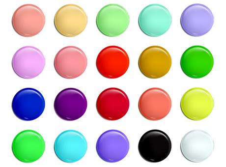 3D button material