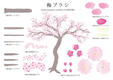 Brush series plum