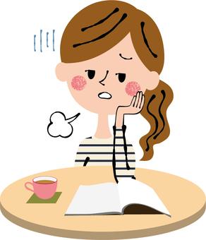 Tiring fatigue private suits female desk cream