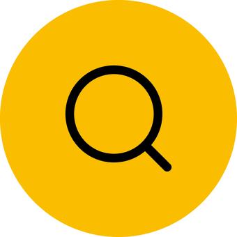 Magnifying glass _ icon _ orange