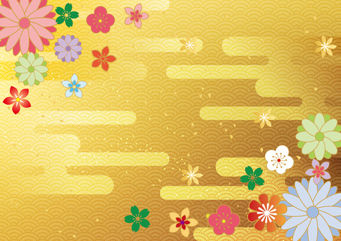 The first month _ and the handle _ gold foil _ background 2179