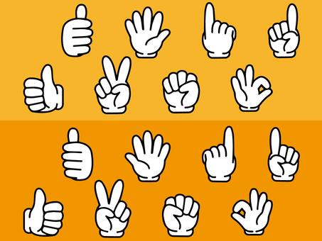 Hand icon hand sign set