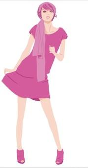 粉紅的女孩