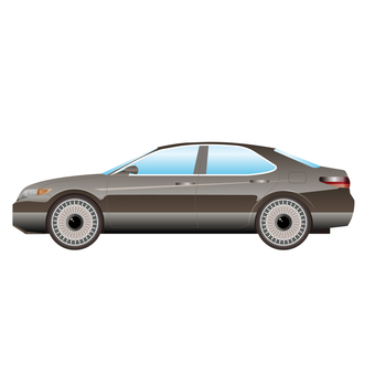 Illustration correction of luxury sedan car