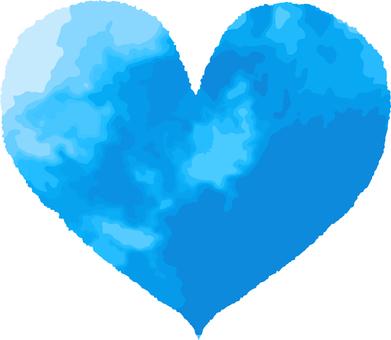 Heart _ watercolor _ 06 _ light blue