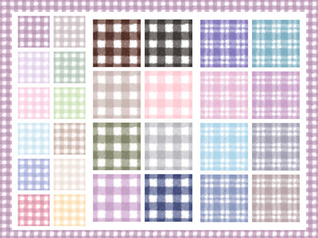 Watercolor style natural check material