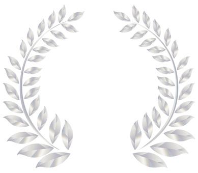 Laurel decorative frame frame silver luxury icon background