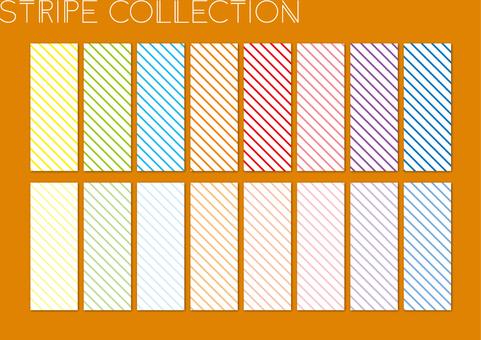 Striped diagonal white width thick set