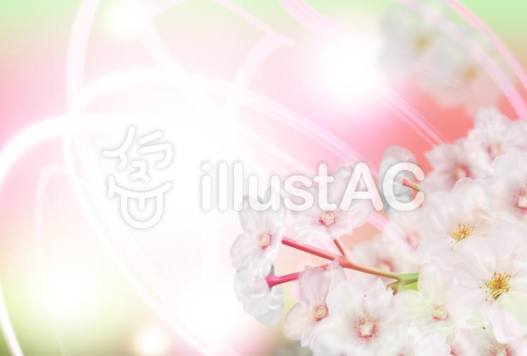 桜フレームのイラスト
