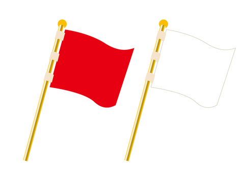 Flag, red and white set