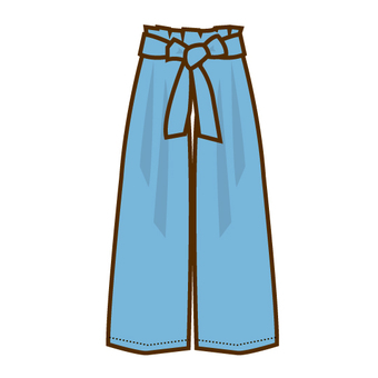 Recently wide pants