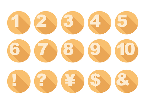 Numeric buttons
