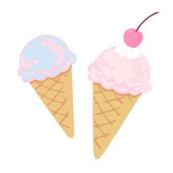 One point of ice cream