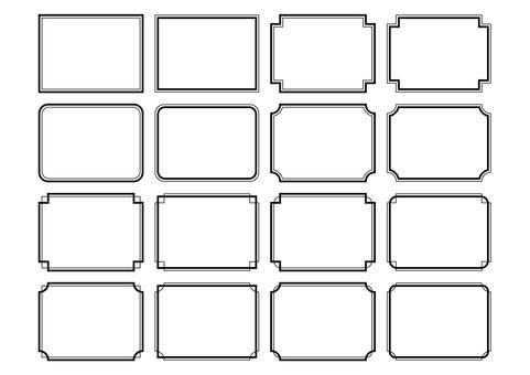 28-frame / decorative frame set 1 monochrome