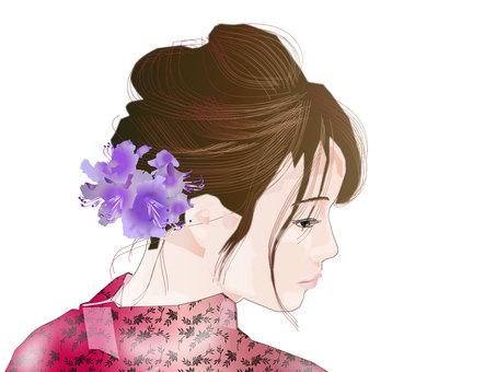 Yukata female face 02