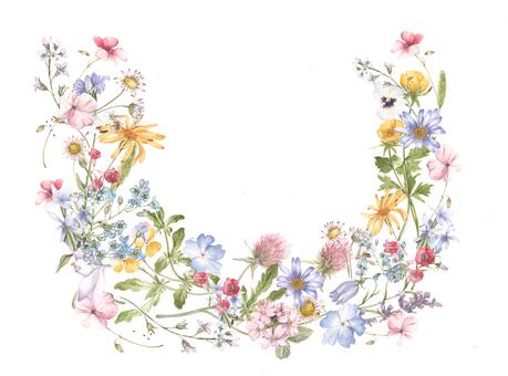 Small flower semicircular flower frame frame