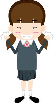 Female student (Guts pose)
