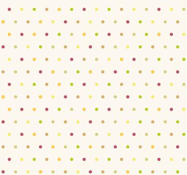 カラフルパターン - 丸S(秋色)