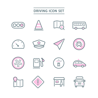 DRIVING ICON SET
