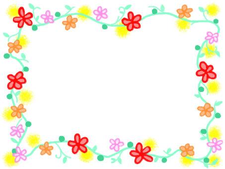 Hand-drawn style flower arrangement