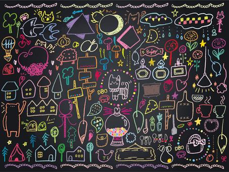 019 Blackboard Art Animal Accessories Various
