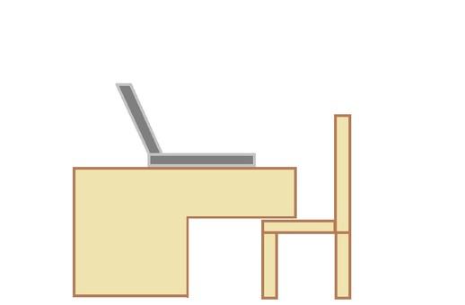 Computer desk 1