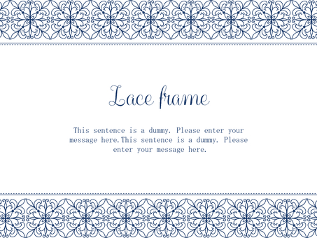 Lace frame 02 / blue