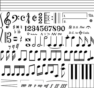 Music-Stave / Note / Symbol Set