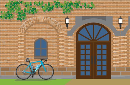 Brick building and road bike 3