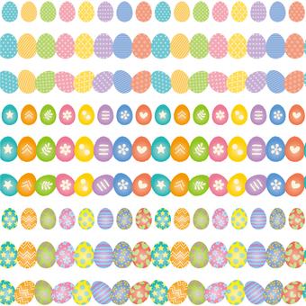 Easter egg decorative ruled set