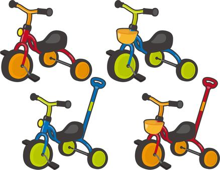 Tricycle rimmed set