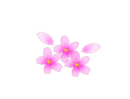 【Cute cherry tree 2】 Hand-painted ♪