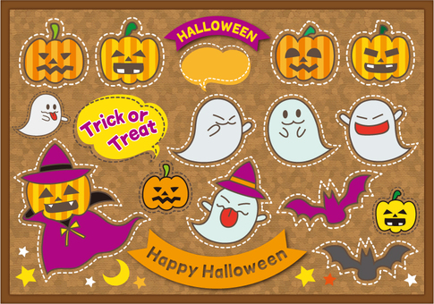 Halloween material on Cork board