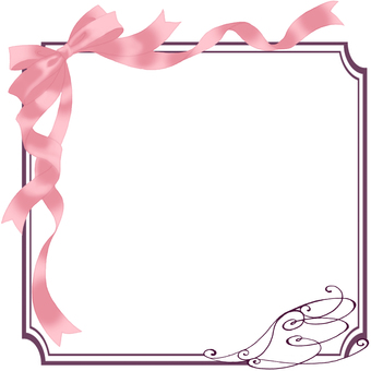 Ribbon frame (pink)