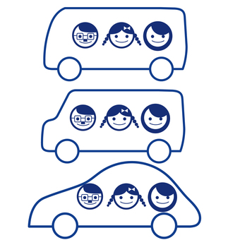 Car and person face icon