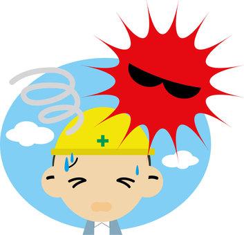 Heat stroke worker